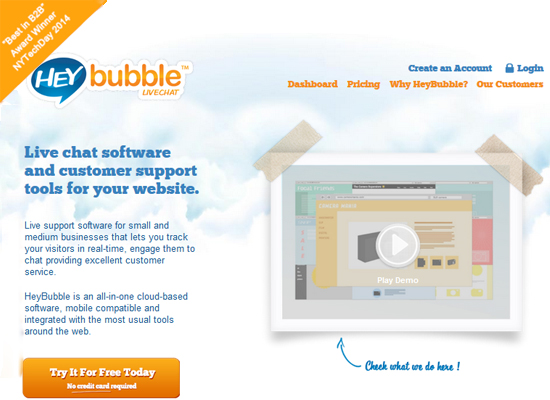 Heybubble – Live Chat Software